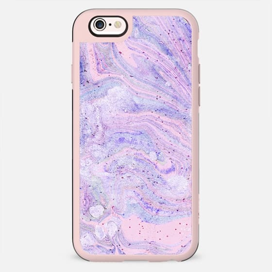 Purple pink watercolor marble - New Standard Case