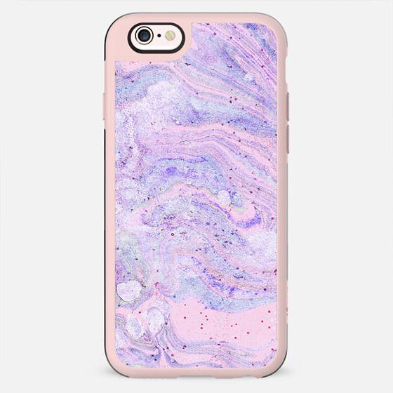 Purple pink watercolor marble