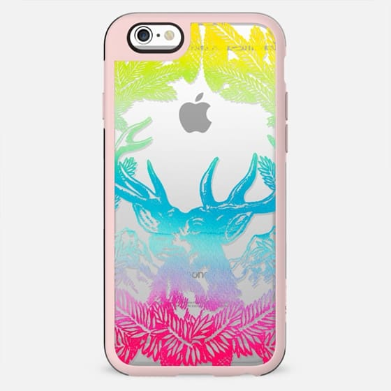 Multicolor deer and pine frame - New Standard Case