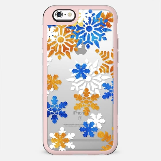 Blue gold snowflakes - New Standard Case