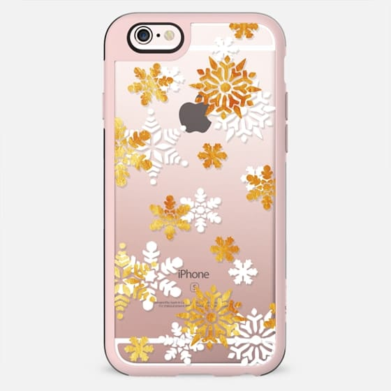 Gold white snowflakes - New Standard Case