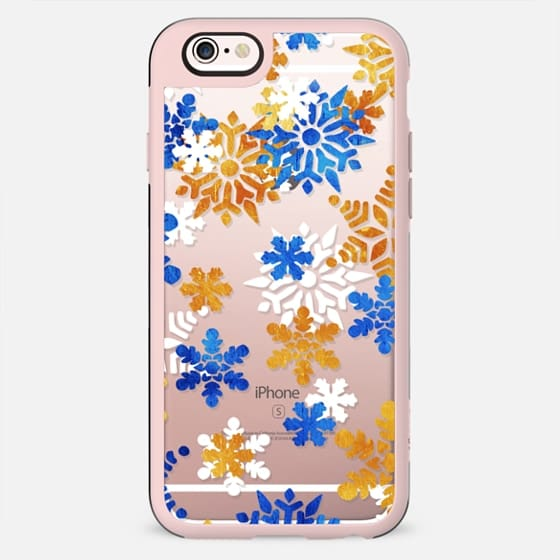 Blue Golden snowflakes - New Standard Case