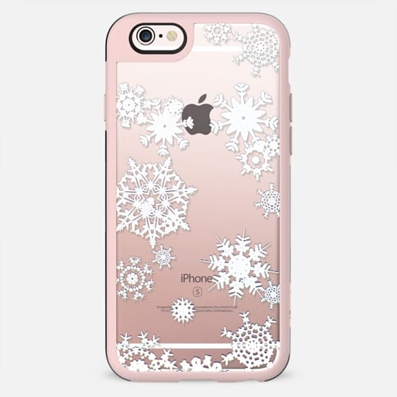 White lace snowflakes - New Standard Case
