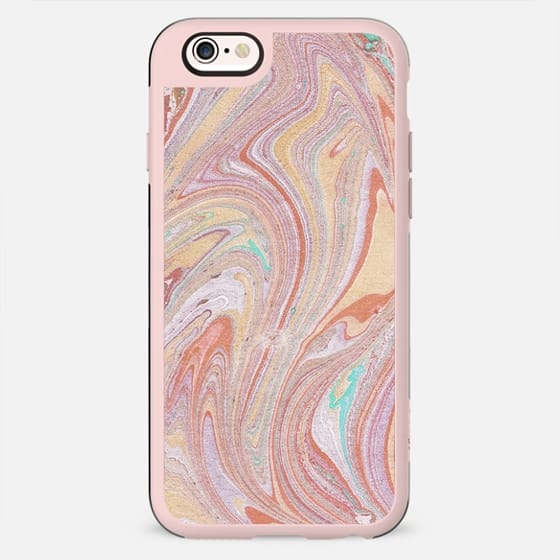 Abstract pastel colorful marble art