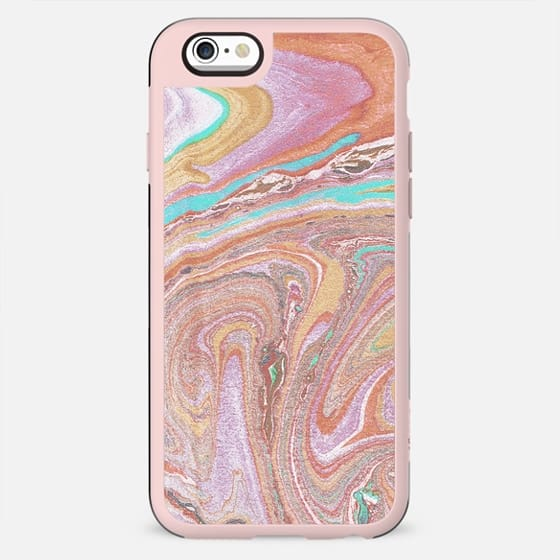 Abstract pastel colorful marble art - New Standard Case