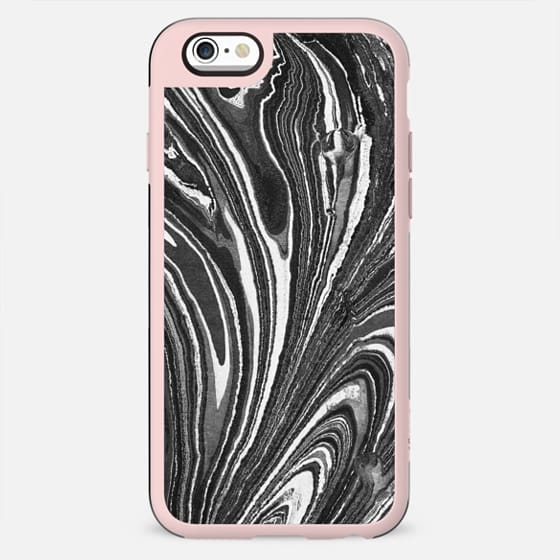Black and white marble stripes - New Standard Case