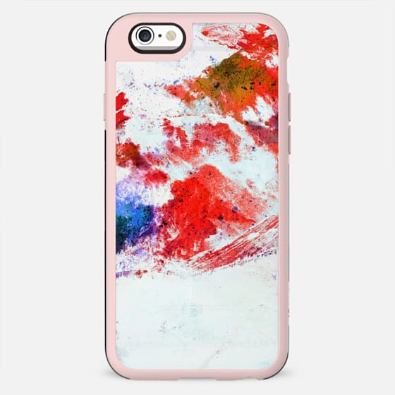 Abstract painted winter mountain landscape - New Standard Case