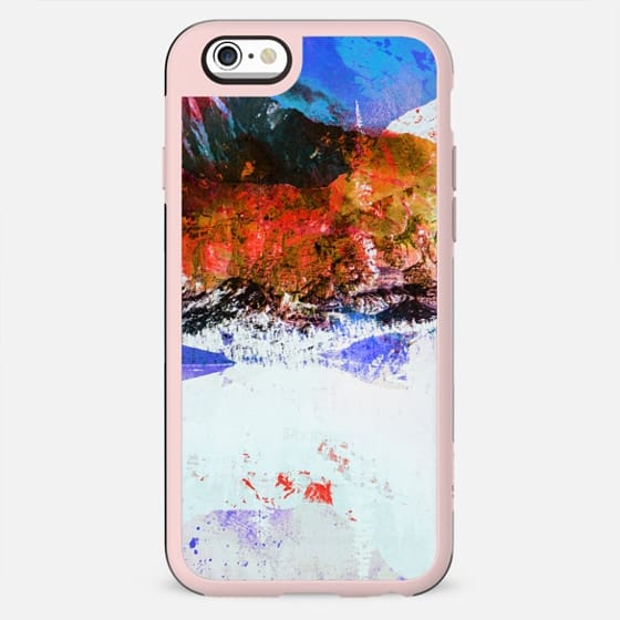 Abstract painted winter landscape transparent - New Standard Case