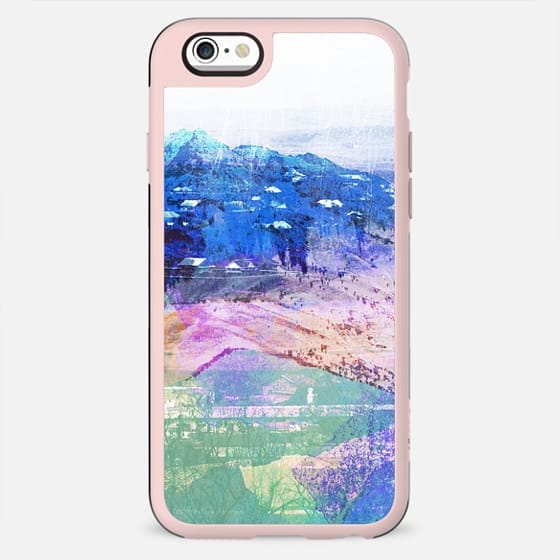 Pastel mountain landscape painting - New Standard Case