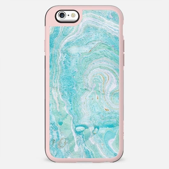 Blue watercolor elegant marble - New Standard Case