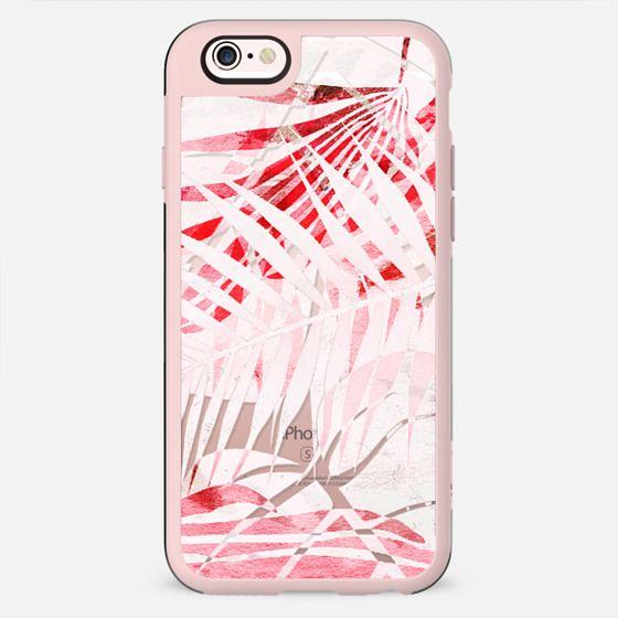 Light pink tropical leaves - transparent - New Standard Case