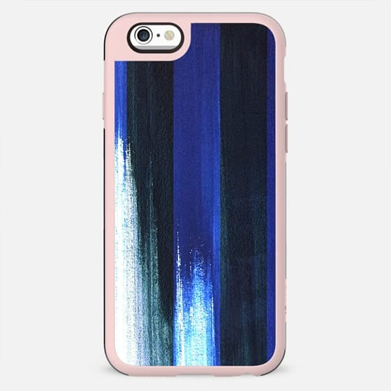 Blue white painted brushed stripes - New Standard Case