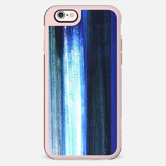Blue white brushed stripes - New Standard Case