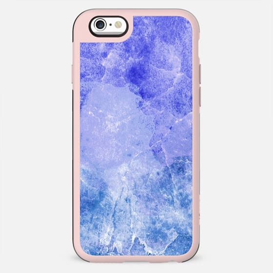 Rich blue cracked marble - New Standard Case