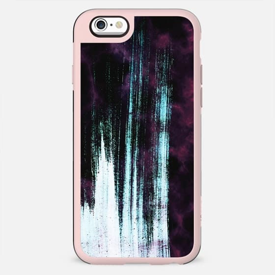Dark purple marble and blue brushstrokes - New Standard Case
