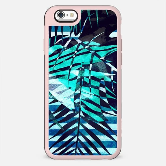 Tropical leaves and marine stripes - New Standard Case