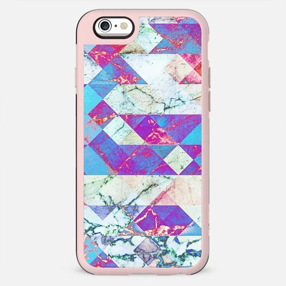 Geometric painted cracked marble - New Standard Case