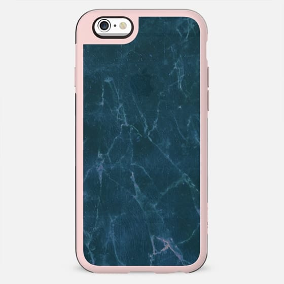 minimal pastel blue marble cracks