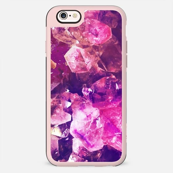 Magenta crystal precious stone