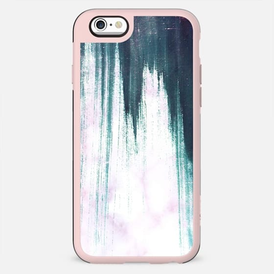 Turquoise pink painted marble
