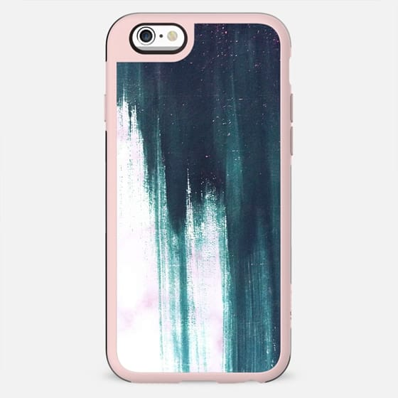 Turquoise brushstroke painted marble - New Standard Case