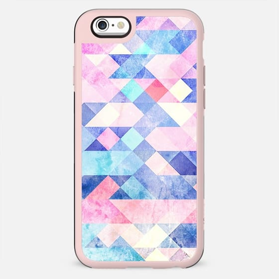 blue pink marble triangles