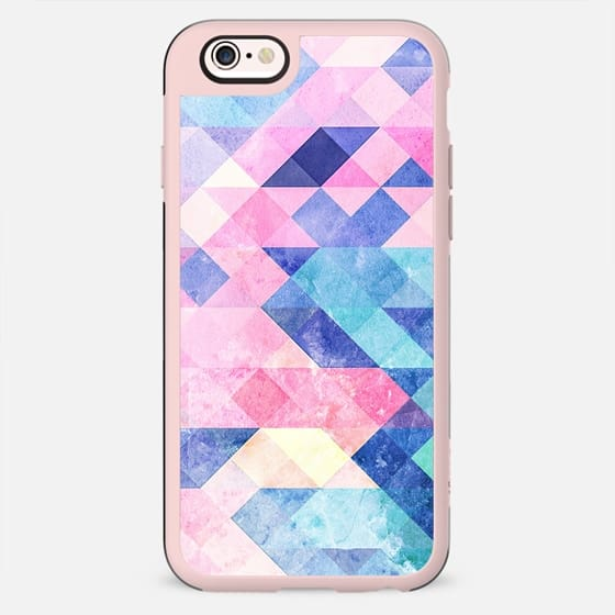 Pastel paint marble triangles