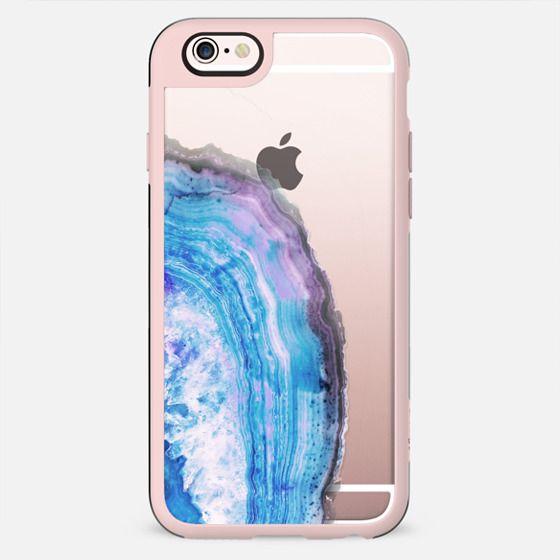 Transparent blue precious agata marble - New Standard Case
