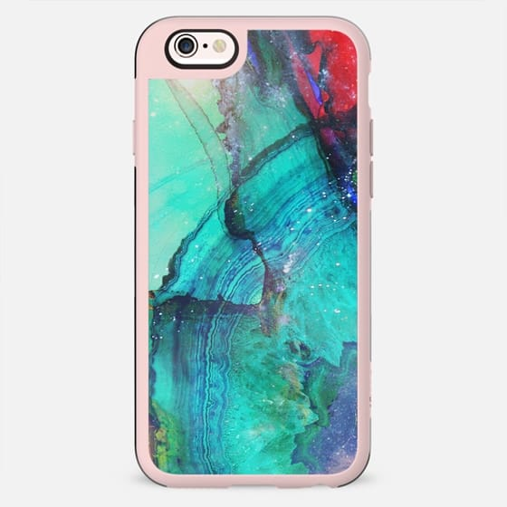 turquoise Precious marble agate stone - New Standard Case