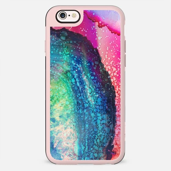 magenta blue painted agate marble - New Standard Case
