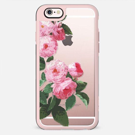Pink rose botanical illustration clear - New Standard Case