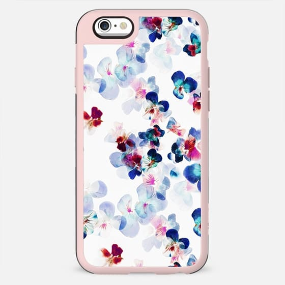 Painted romantic pansy petals - New Standard Case