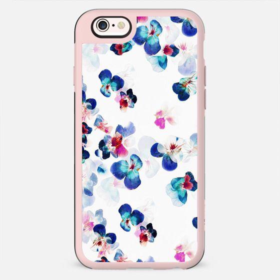 blue painted romantic pansy petals - New Standard Case