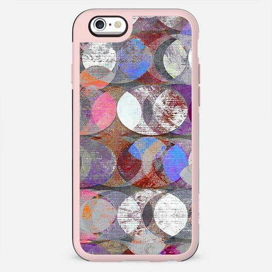 Colourful chalk half moons pattern - New Standard Case