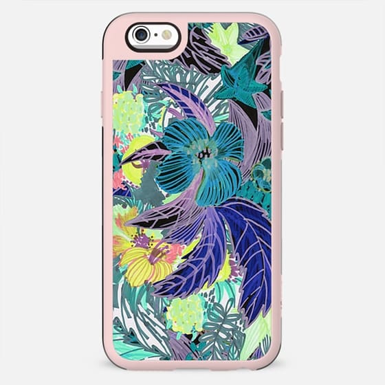 Colorful tropical flowers sketch - New Standard Case