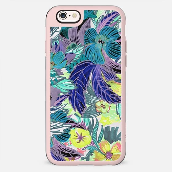Colorful tropical floral sketch - New Standard Case