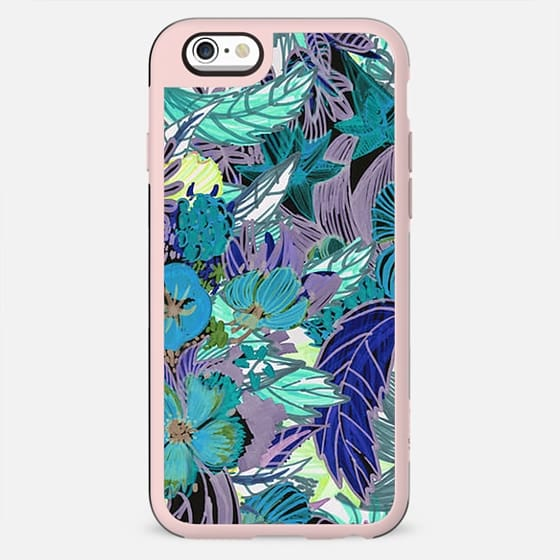 Colorful tropical artistic flower sketch - New Standard Case