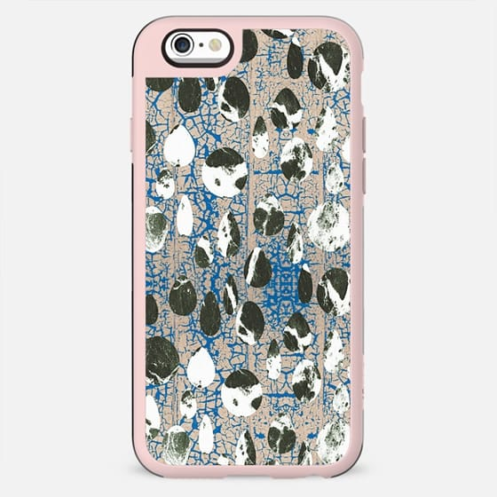 Blue cracked wall and monochrome stones - New Standard Case