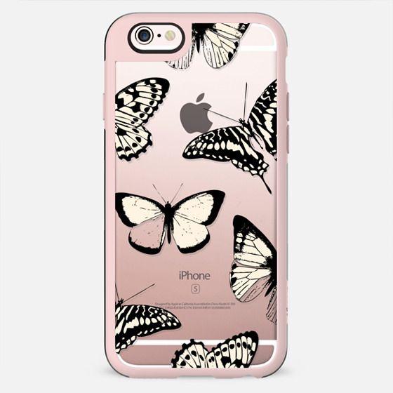 Butterfly drawings pattern clear case - New Standard Case