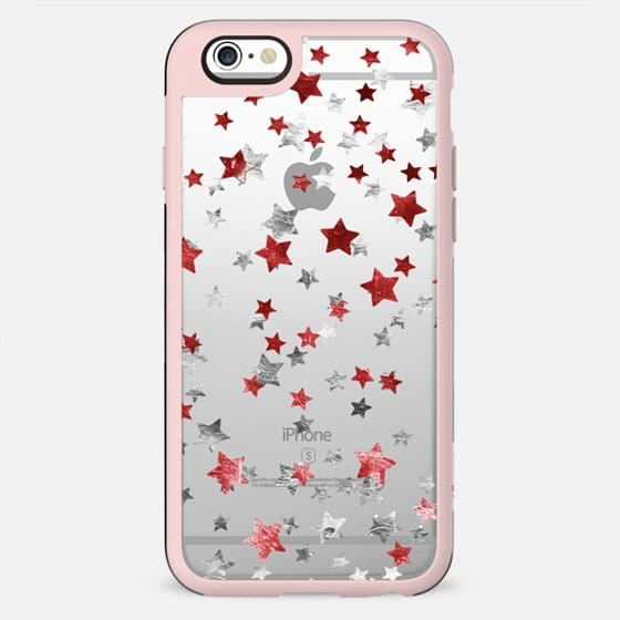 Party metallic sparkle stars clear - New Standard Case