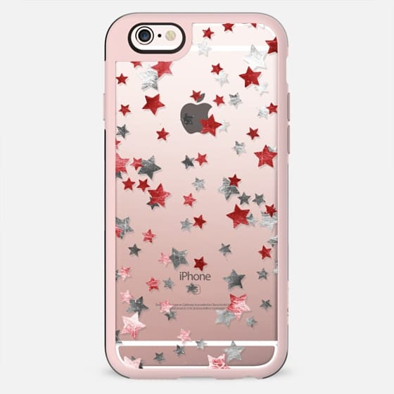 Party metallic sparkle stars clear case - New Standard Case