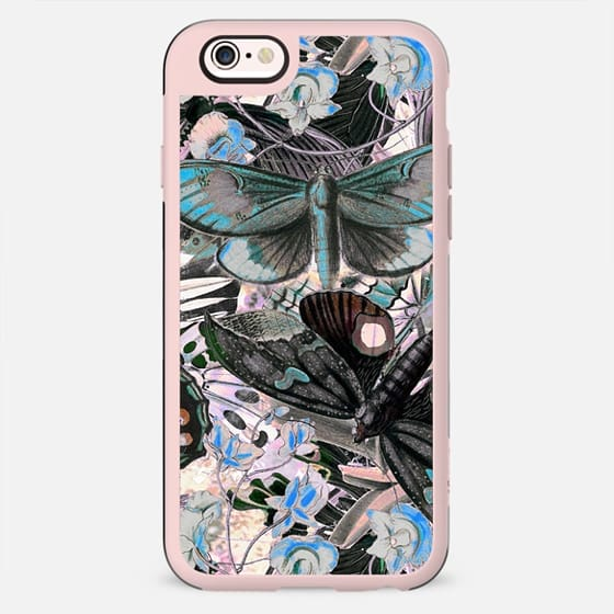 Butterflies botanical illustration pattern