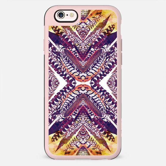 Watercolor feathers tribal pattern - New Standard Case