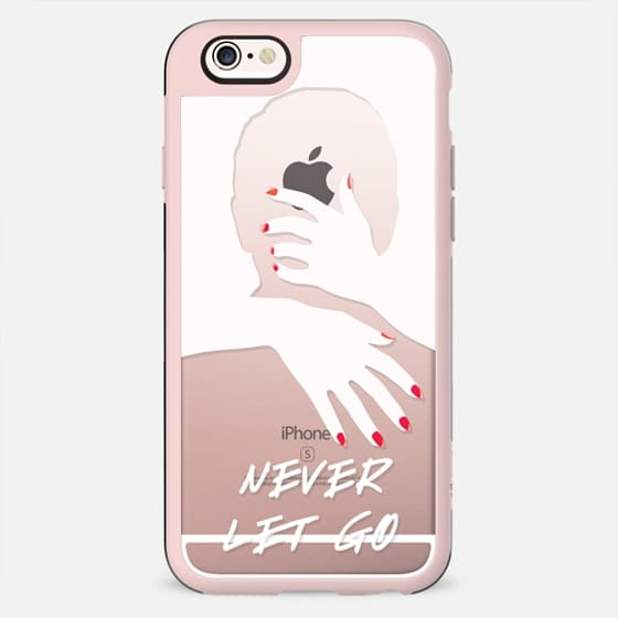 Never let go - Man woman in love clear valentine case - New Standard Case