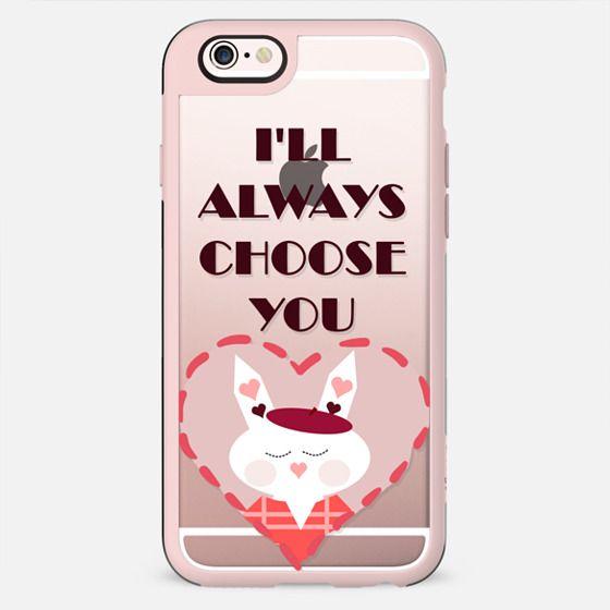 I'll always choose you - heart bunny - New Standard Case
