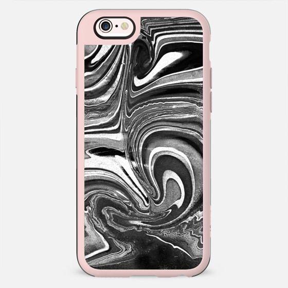 Liquid monochrome marble painting - New Standard Case