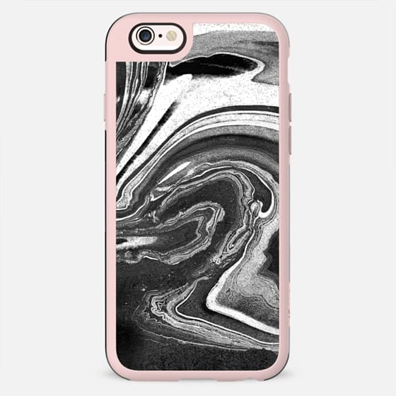 Liquid black and white marble painting - New Standard Case