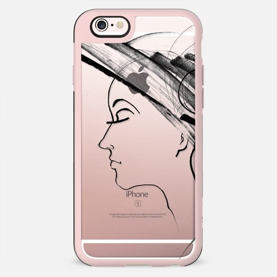 woman with hat profile line sketch - New Standard Case