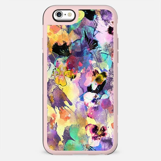 Splattered colorful painted petals