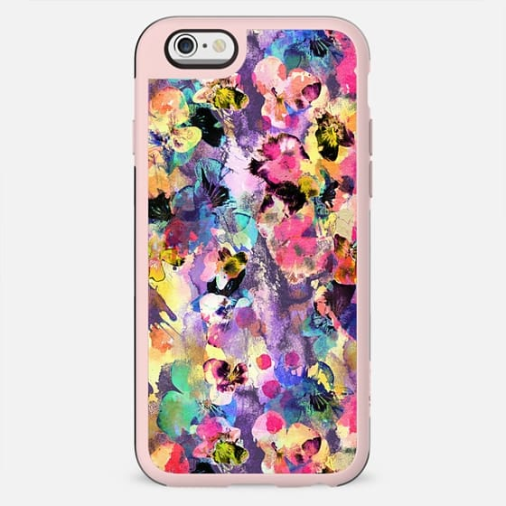 Splattered colorful painted pansy petals - New Standard Case